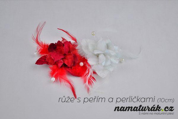ozdoby_ruze_s_perim_a_perlickami_10cm