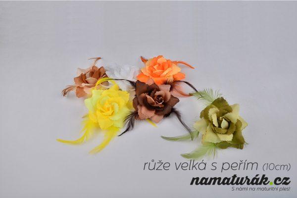 ozdoby_ruze_velka_s_perim_10cm