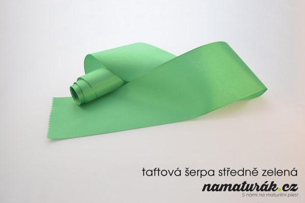 taftová šerpa středně zelená