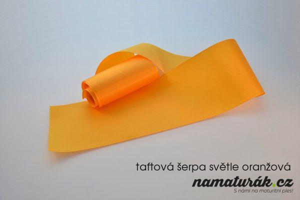 taftová šerpa světle oranžová